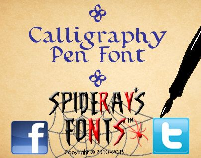 CALLIGRAPHY PEN Commercial Font by SpideRaYsfoNtS on Etsy