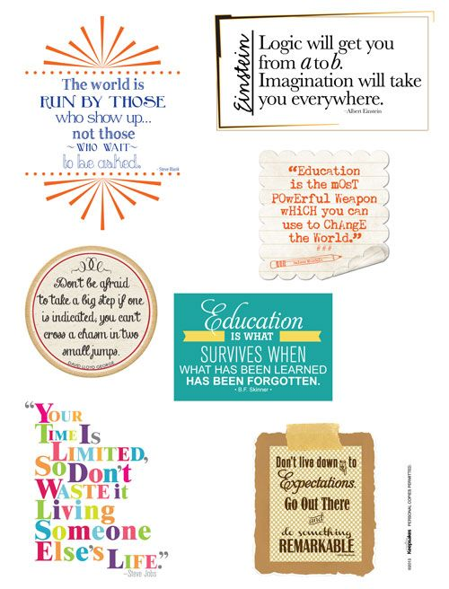 Scrapbookbook Your Graduation Memories with this Free Download: Graduation Quotes for the May/June 2013 issue of Creating Keepsakes magazine