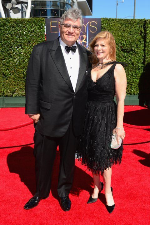 Emmy Awards 2014:  Creative Arts Futurama actor Maurice LaMarche and his wife
