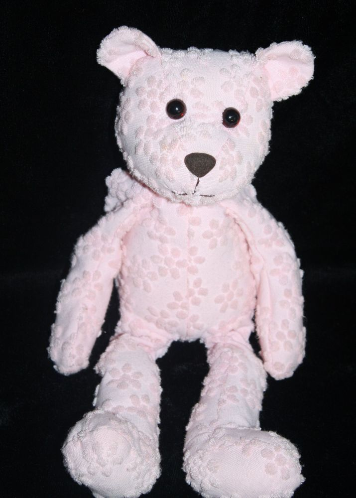 Commonwealth Plush Bean Bag Teddy Bear Made Of Pink Flower