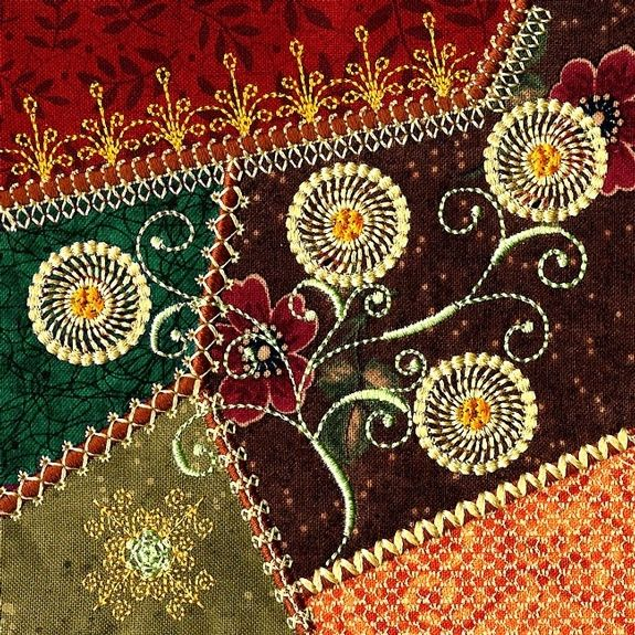 Crazy Quilting Stitches Patterns : 6325 best Crazy Quilts Contemporary images on Pinterest Crazy quilting, Embroidery stitches ...