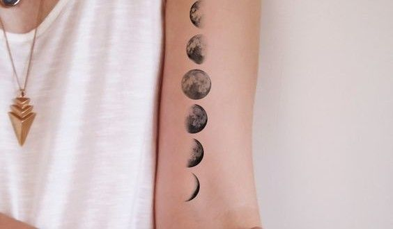 Small Moon Tattoos Designs.Human beings are always attentive towards nature which amuses us with it'...