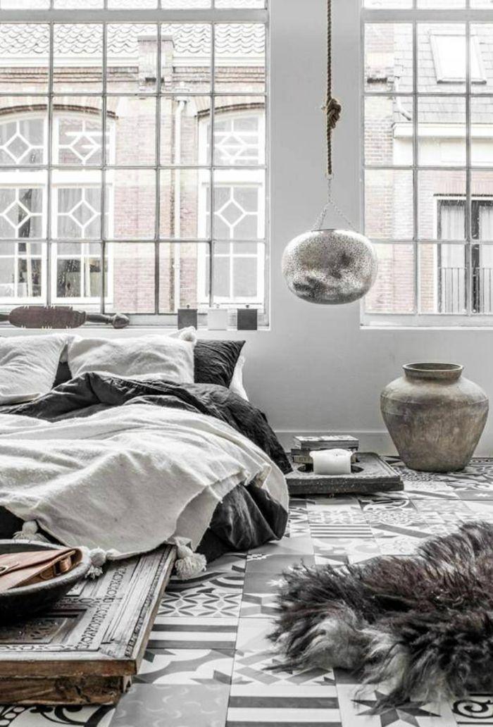die besten 25+ graues bett ideen auf pinterest - Zimmerfarben Zimmer Gestalten Weis Braun