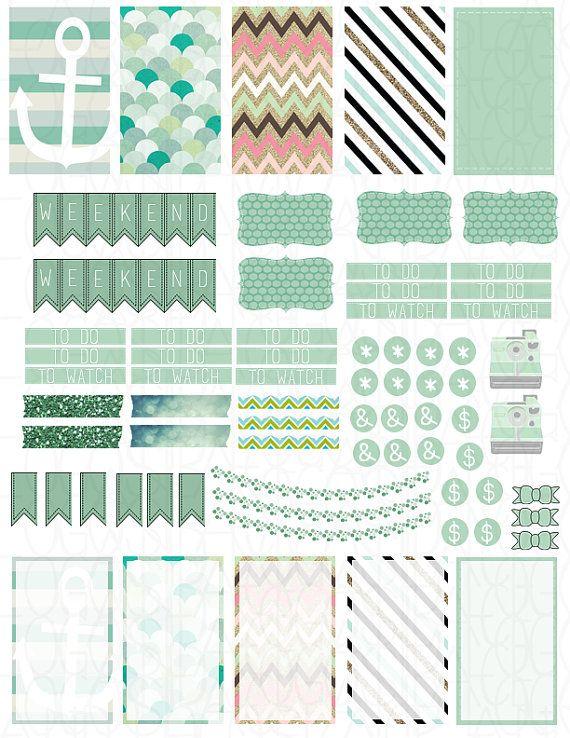 Printable Planner Stickers MAMBI Happy Planner by LaceAndLogos