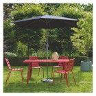 ZOLA Black parasol | Buy now at Habitat UK