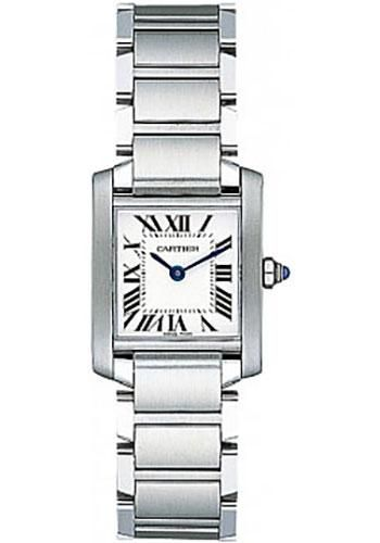 Cartier Tank Francaise Small - Stainless Steel Watch W51008Q3