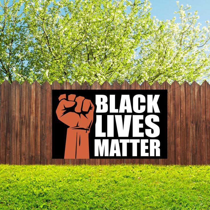 Black Lives Matter Vinyl Banner Etsy in 2020 Black