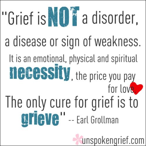 ❥ Grief is natural and must be allowed to run its course in order for you to heal
