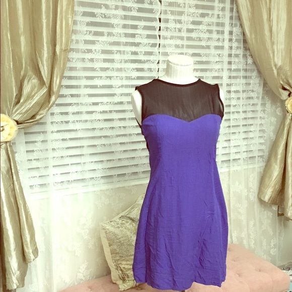 Sexy short cobalt dress Want to go out and feel as sexy as you can? This dress has all you need to stand out: color, see through accents and short length. Get ready for the conquer! Valija gitana Dresses Mini