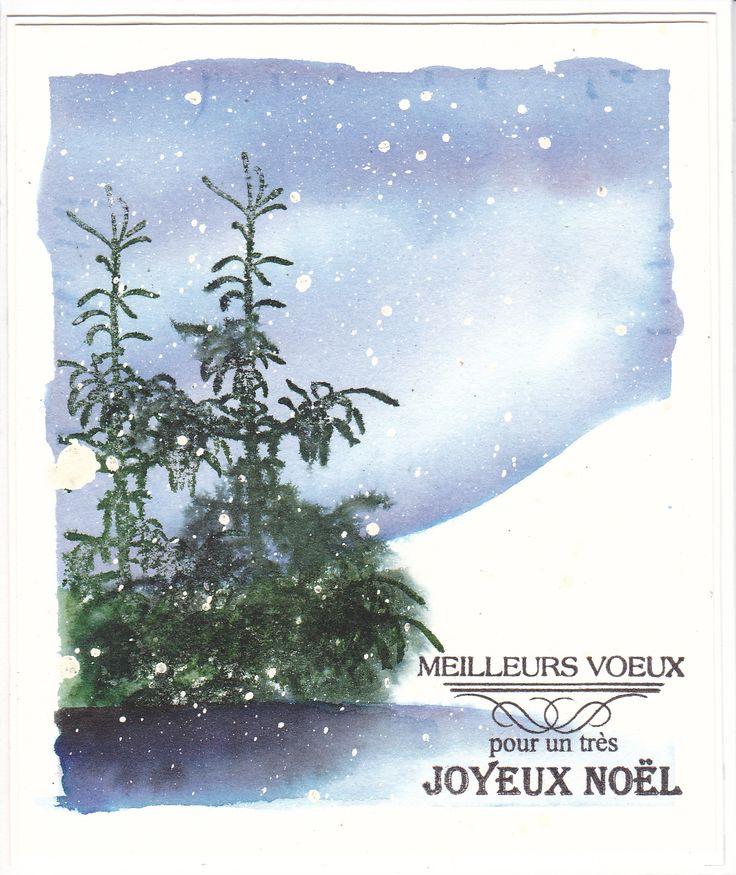 Scène d'hiver par Micheline Jourdain