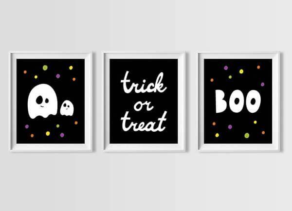 Halloween Wall Art Free Printable Set Baby Room Art Printable