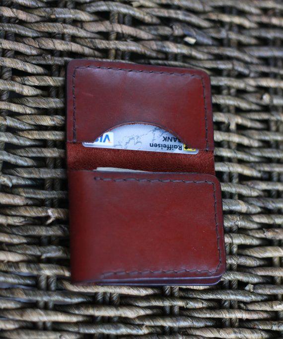 Leder Brieftasche einfach FREE SHIPPING von NicholasLeatherWorld