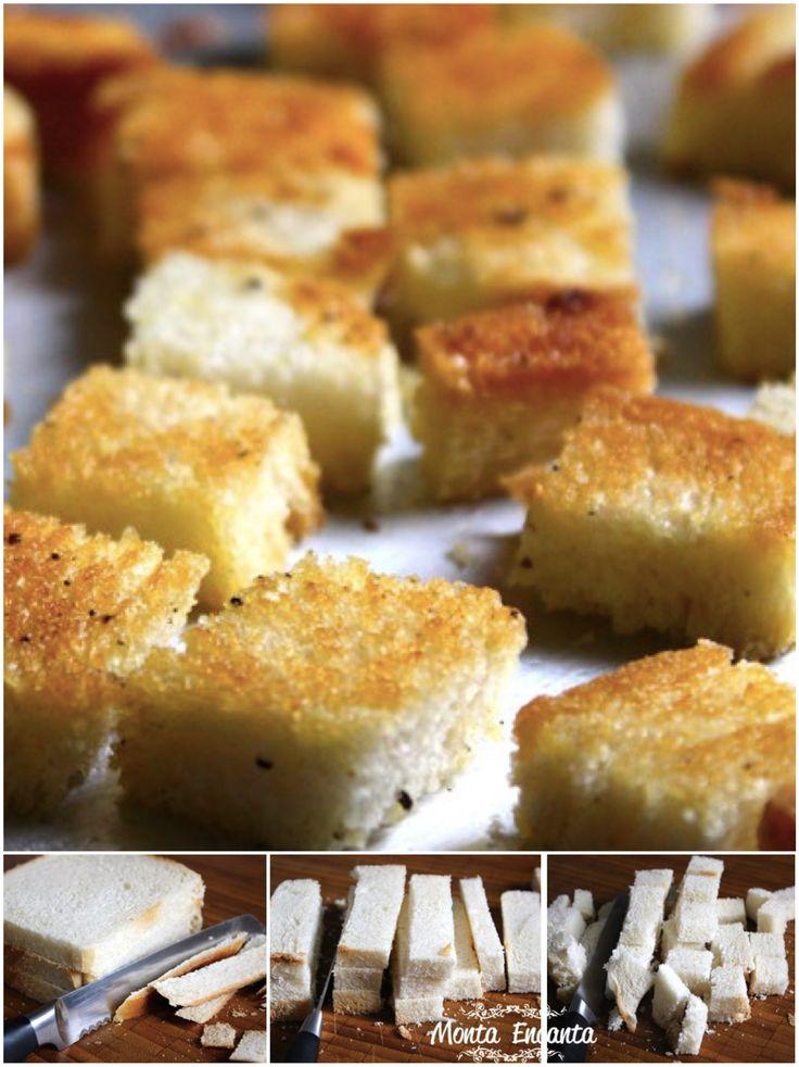 Toda boa sopa creme pede um crocante. Saiba como fazer croutons crocantes temperados rapidinhos, para valorizar o sabor e a textura da sua sopinha.