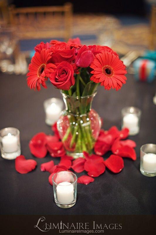 40th Anniversary Flower Centerpieces