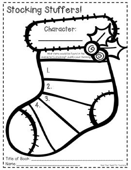 Christmas Reading Graphic Organizers {Use with ANY text