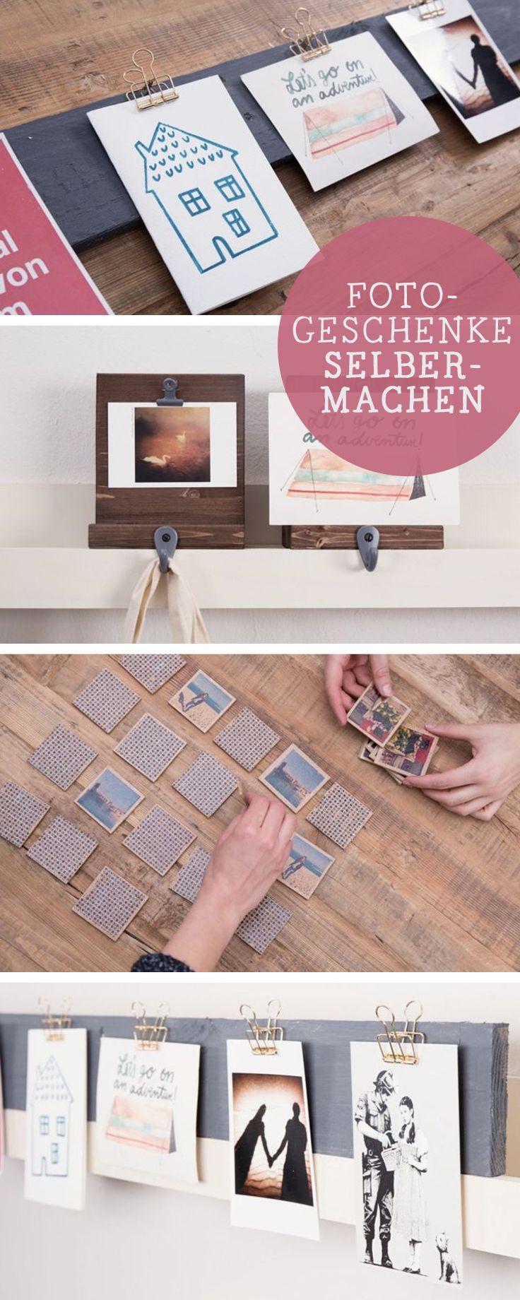Fotos verschenken: DIY-Ideen für Fotogeschenke / photo  gift ideas, diy tutorials via DaWanda.com