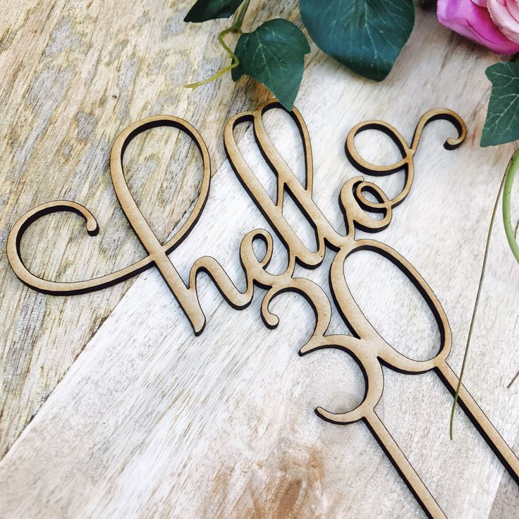 Hello 30 Cake Personalised Topper Thirtieth Birthday Cake Topper 30th Birthday Cake Topper Cake Decoration Cake Decorating Thirty Cake Toppe