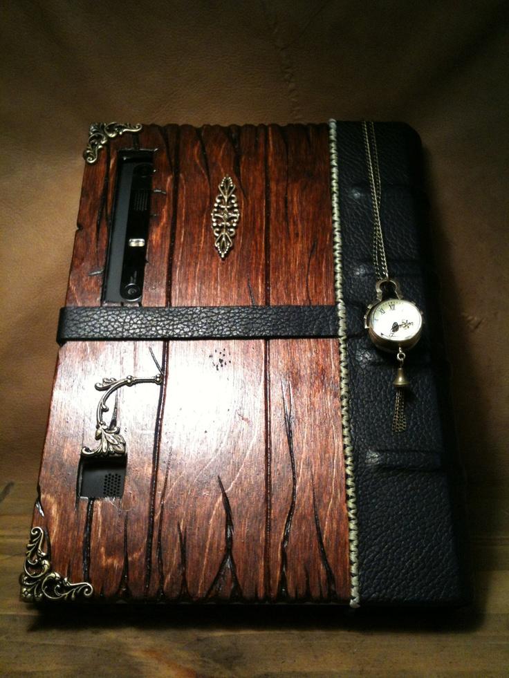 Steampunk Book Tablet Case. $125.00, via Etsy.