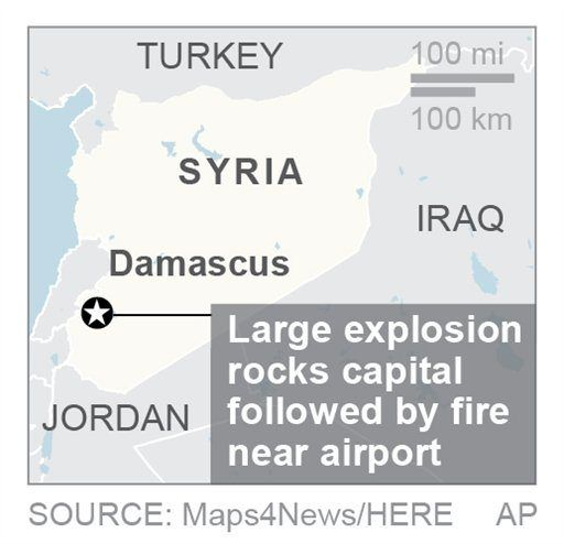 BEIRUT/April 27, 2017 (AP)(STL.News) — The Latest on Syria (all times local):    11:45 a.m.    Syria's state media is reporting that Israel has attacked a military installation near the Damascus International Airport.    SANA says Israel fired seve...
