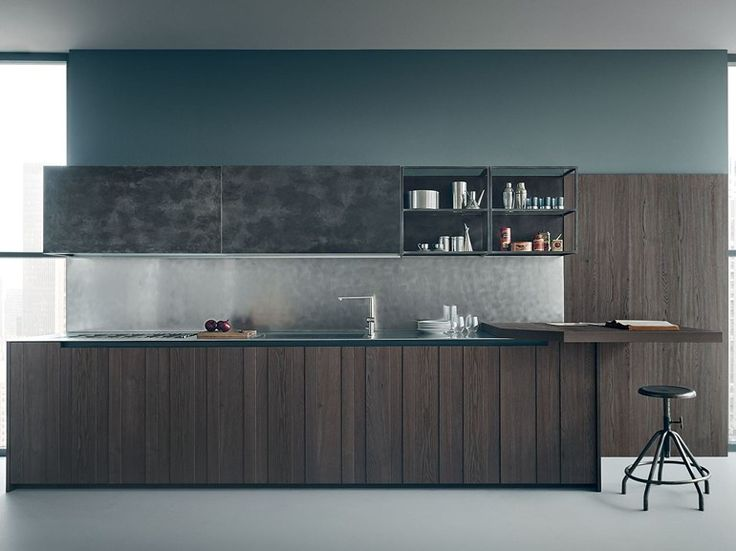 Oak kitchen FIFTY Composition 02 by Zampieri Cucine design Stefano Cavazzana