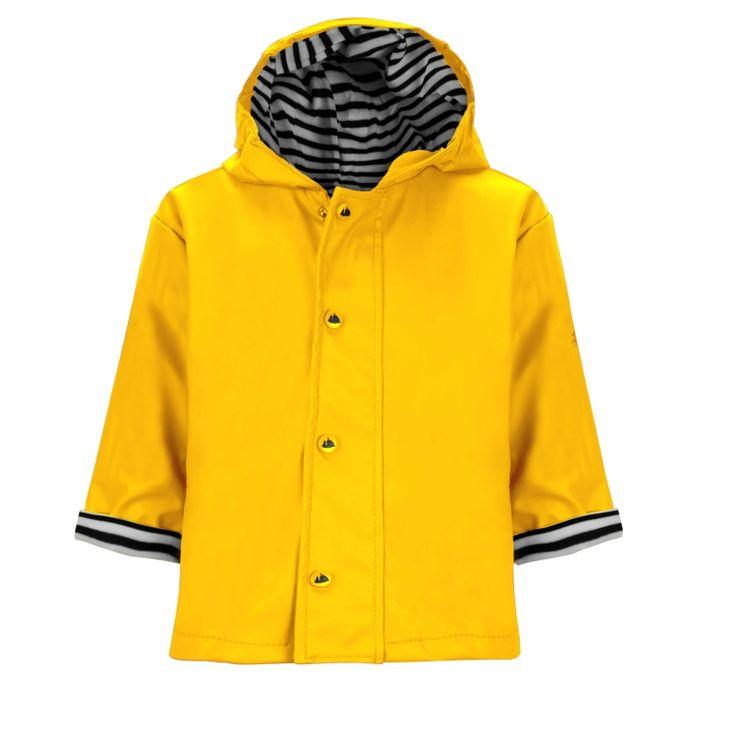 Raindrops keep falling on my head, maar met deze gele regenjas van Hublot maakt dat helemaal niet uit! Trendy en praktisch.