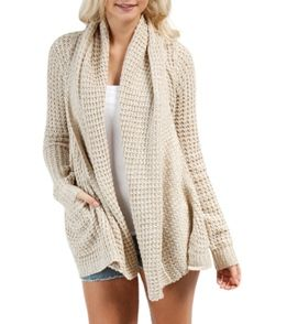Throw the Rip Curl Women's Shambala Cardigan over your favorite dress, or pair it with your best skinnies for a comfy chic style. #swimoutlet