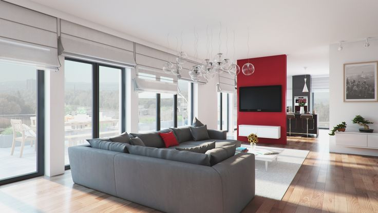 Living room interior visualization / Wizualizacja saonu.
