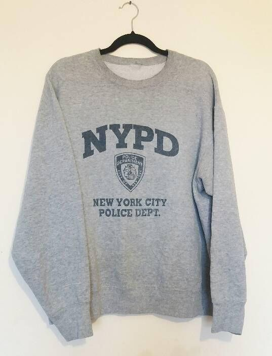 316fc69a a vintage grey new york police department sweatshirt ✿ IMPORTANT  INFORMATION: • good vintage condition • for sizing please check exact  measurements below ...
