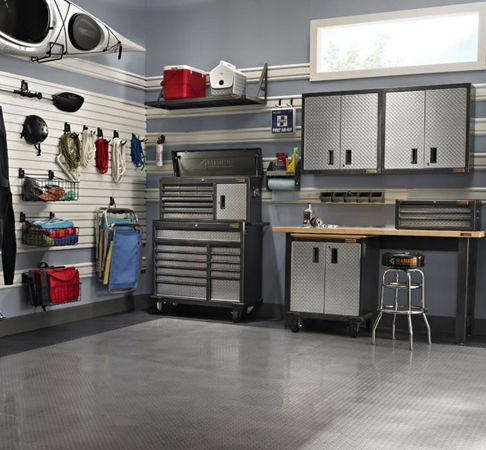 Gladiator Garage System - we have this it just doesn't look this nice!