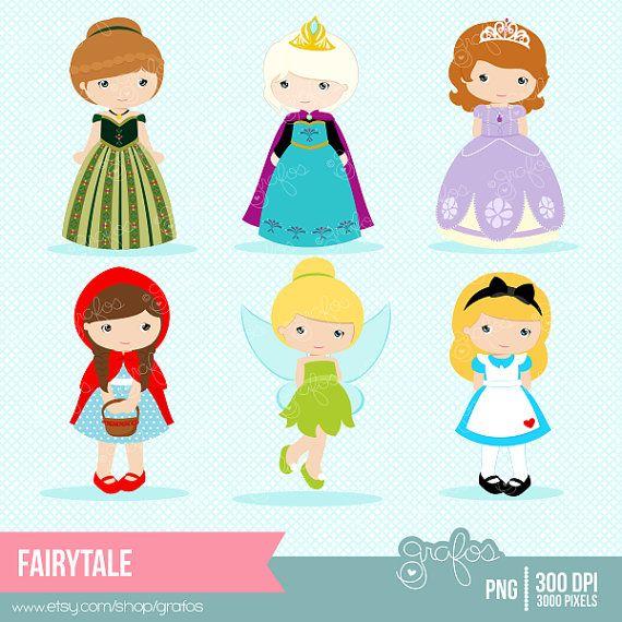 FAIRYTALE Digital Clipart , Princess Clipart, Fairy Tale Clip Art / Instant Download
