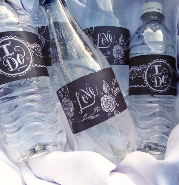 "Free Downloadable labels | Water bottle labels & ""Handmade With Love"" labels perfect for mason jar lids"