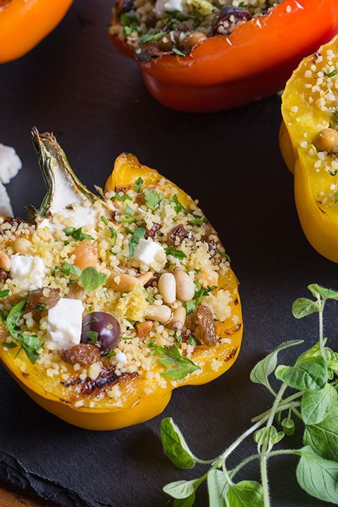INGREDIENTS BY SAPUTO   Looking for tasty summer grilling ideas? Add variety to your menu this week with this easy recipe for stuffed bell peppers on the BBQ. Made with couscous, olives, chickpeas and Saputo Feta cheese, they're sure to be an instant hit!