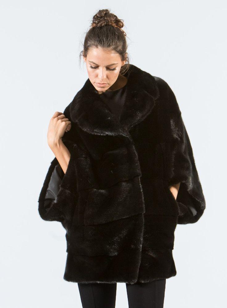 Black Mink Fur Cape  #black #mink #fur #cape #real #style #realfur #elegant #haute #luxury #chic #outfit #women #classy #online #store