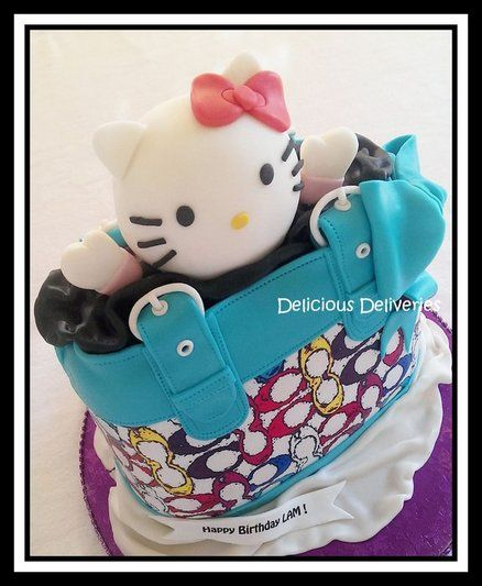 Hello Kitty Coach Purse Cake