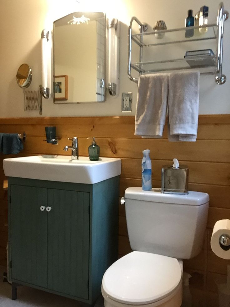 First Floor Bathroom Refinished Original Medicine