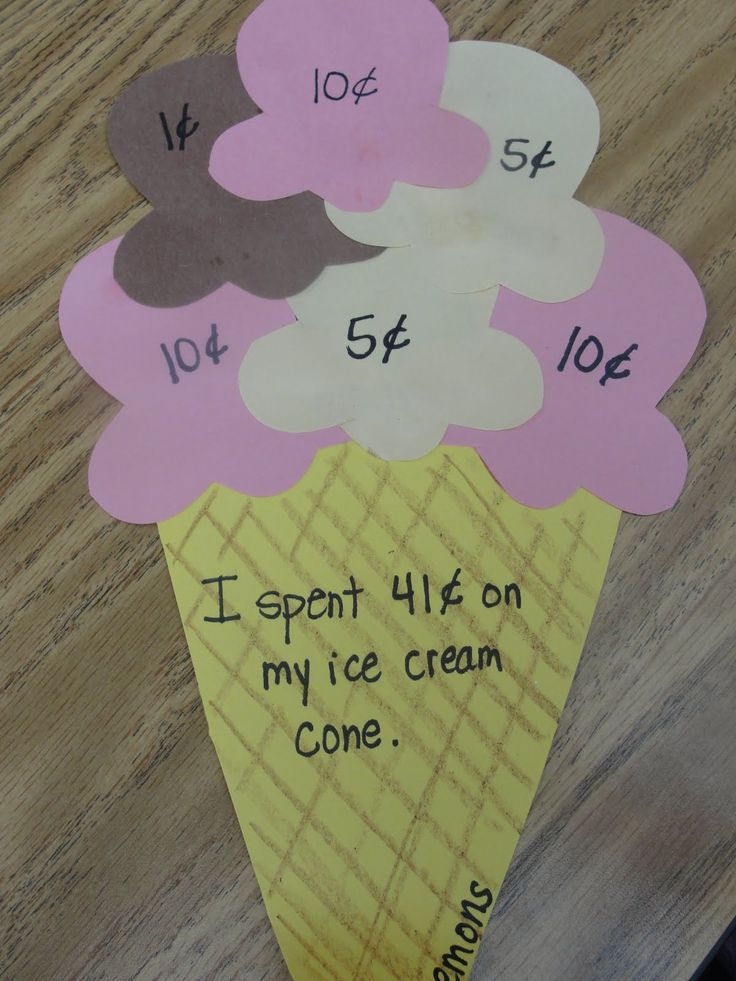 Make it an open ended problem by saying, make an ice cream cone that costs as close to _____(e.g. $1.00) as possible without going over.