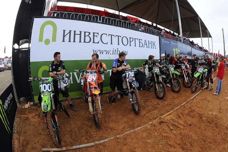 Bikers waiting to start race Beto Carrero MX1 2012