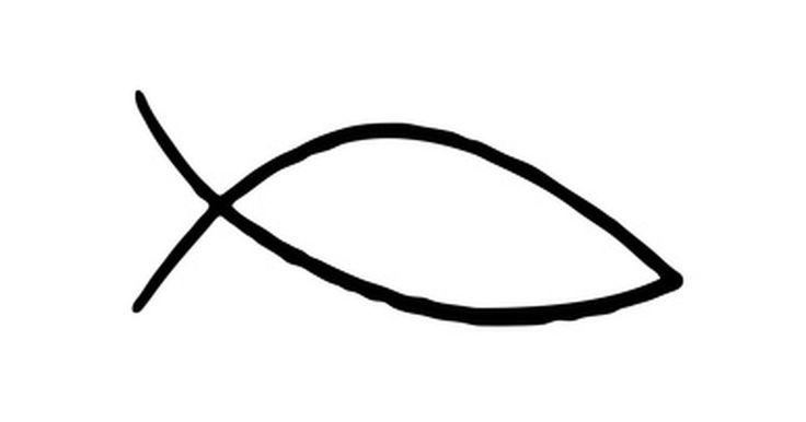 ¿Qué significa el símbolo cristiano del pez?. Los primeros cristianos adoptaron el símbolo del pez como una marca secreta para distinguirse de otros creyentes y señalar los lugares de reunión seguros durante el tiempo de persecución realizada por el gobierno romano. El sencillo esquema del símbolo del pez ocasionalmente tiene una cruz en lugar de un ojo o tiene escrita la palabra pez en ...