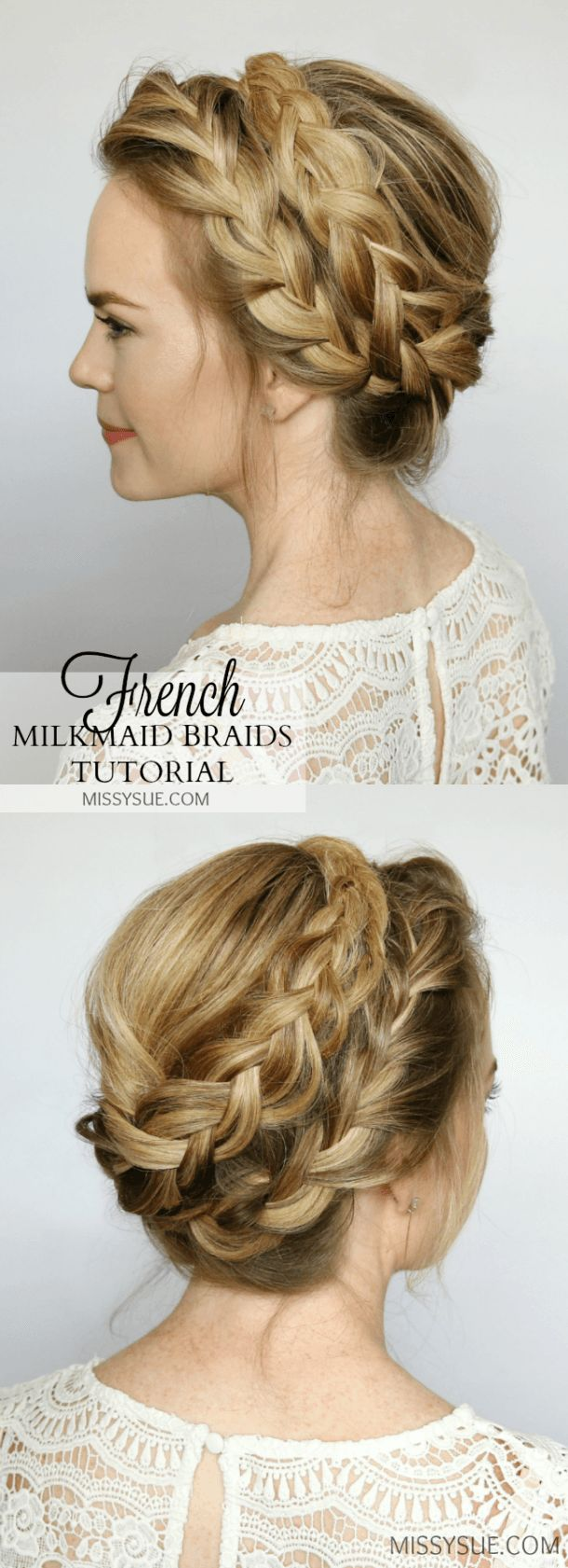 Magnificent 1000 Ideas About Braided Updo On Pinterest Braids Braided Hairstyles For Men Maxibearus
