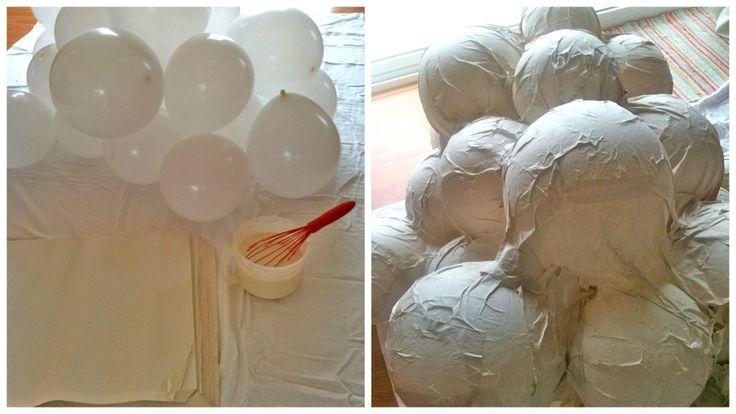 Een wolk maken met behulp van balonnen