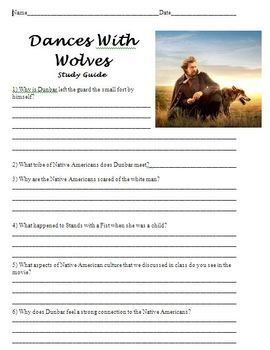 This is a study guide to be used alongside the film, Dances With Wolves. The study guide contains eleven comprehension questions for students to complete during or after the film.
