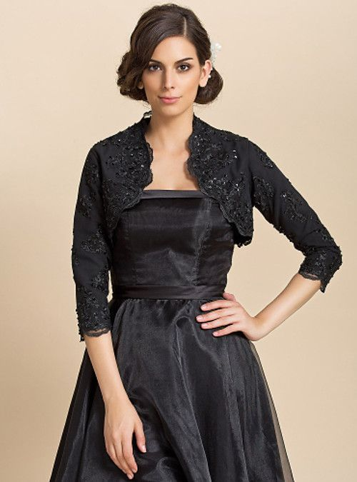 Long Sleeves Lace Wedding Party Evening Casual Wedding  Wraps With Sequin Coats / Jackets - USD $27.99 ! HOT Product! A hot product at an incredible low price is now on sale! Come check it out along with other items like this. Get great discounts, earn Rewards and much more each time you shop with us!