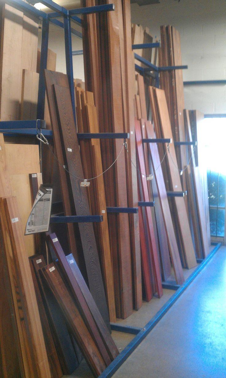 236 best lumber rack images on pinterest for Vertical lumber storage rack