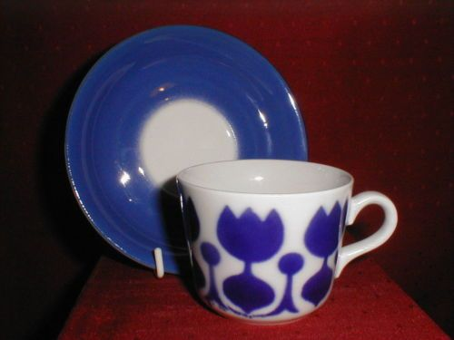Arabia Finland Demitasse Coffee Cup & Saucer 1950s