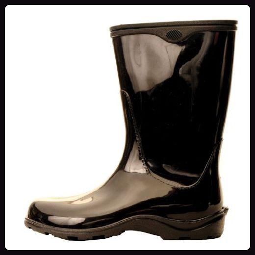 Arbeitstiere 10 Schwarz Womens Arbeitstiere Wasserdicht Regen Stiefel 5000BK10 - Stiefel für frauen (*Partner-Link)