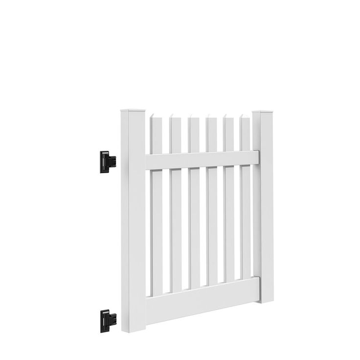 Freedom Lennox White Vinyl Vinyl Fence Gate Kit (Common: 4-ft x 4-ft; Actual: 4-ft x 3.83-ft)