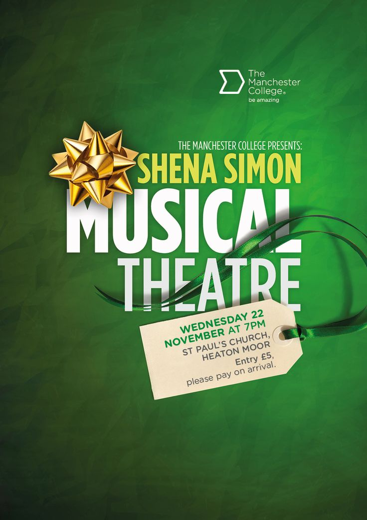 Poster for a Musical Theatre production