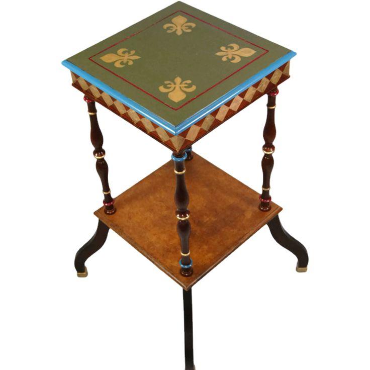 Fleur de Lis Painted Table | French Quarter Style