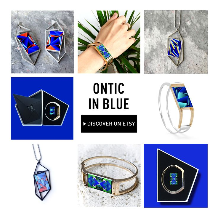 Today Ontic Jewelry are wearing these wonderful blue Icons! Discover & shop your favorite on our #Etsy page: http://onti.cc/1brmq6A | #Ontic, #OnticDesign, #Jewelry, #Bracelet #Design, #Art, #Accessories, #Fashion, #3dPrinted, #3dPrintedJewelry, #Custom3dPrintedJewelry,   #PersonalizedJewelry, #CustomJewelry, #MagneticBracelet, #GeometricPatternDesign, #GeometricPattern. #GenerativeArt.