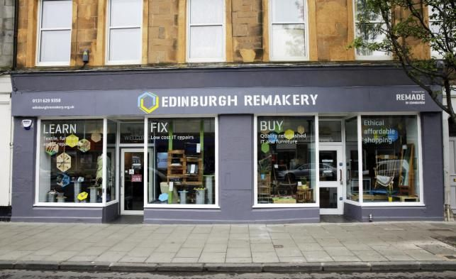 The Edinburgh Remakery is a social enterprise that teaches repair. The shop sells refurbished computers and furniture, and hosts workshops where people can come along and learn how to repair their …